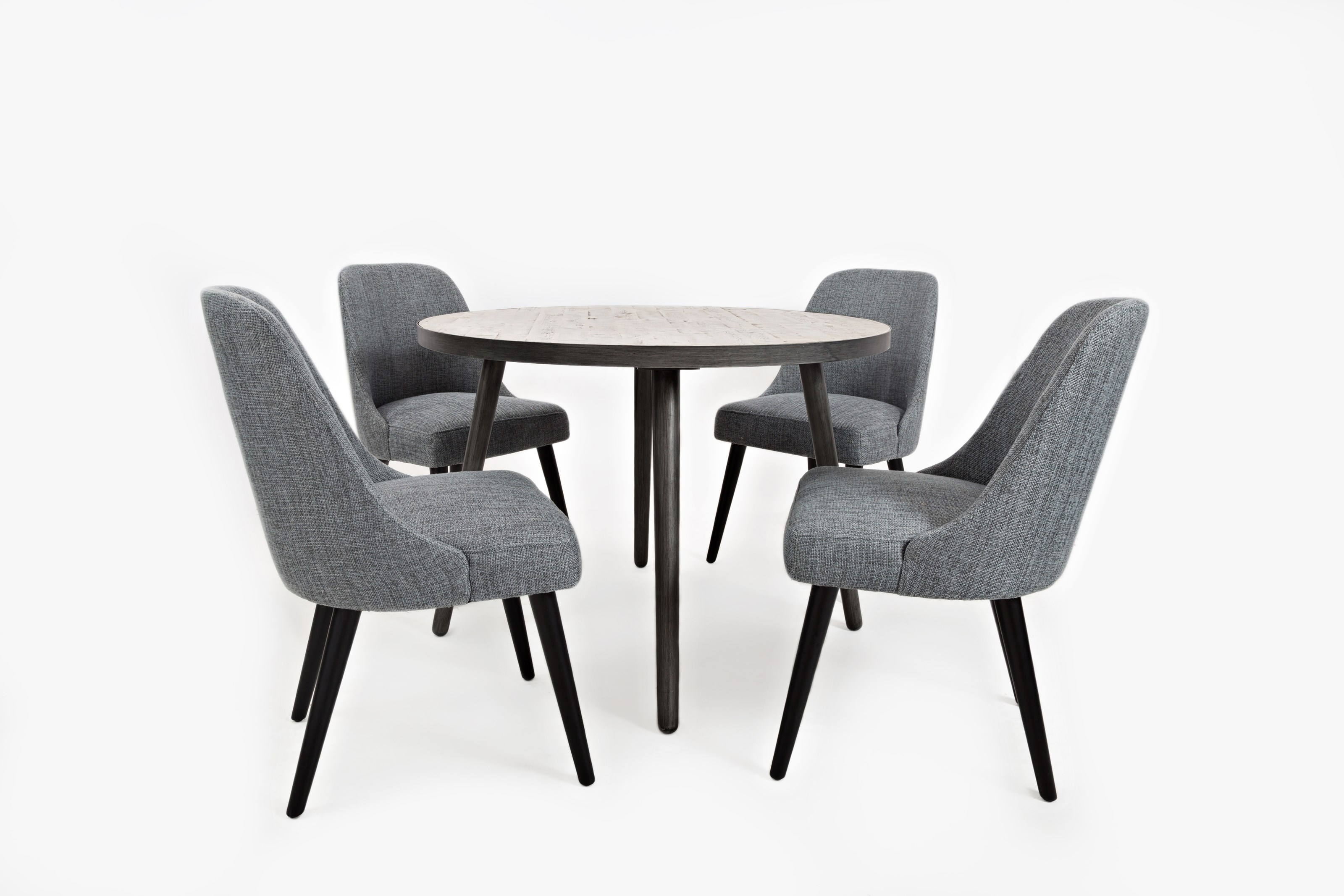 Jofran American Retrospective Round Dining Table And Chair Set - 42 round dining table and chairs