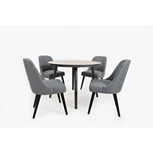 "Jofran American Retrospective 42"" Round Dining Table and Chair Set"