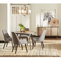 """Jofran American Retrospective 42"""" Round Dining Table and Chair Set - Item Number: 1641-42TBKT+4x1641-330KD"""