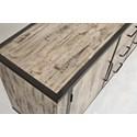 Jofran American Retrospective Sideboard - Cabinet Top Detail Shot