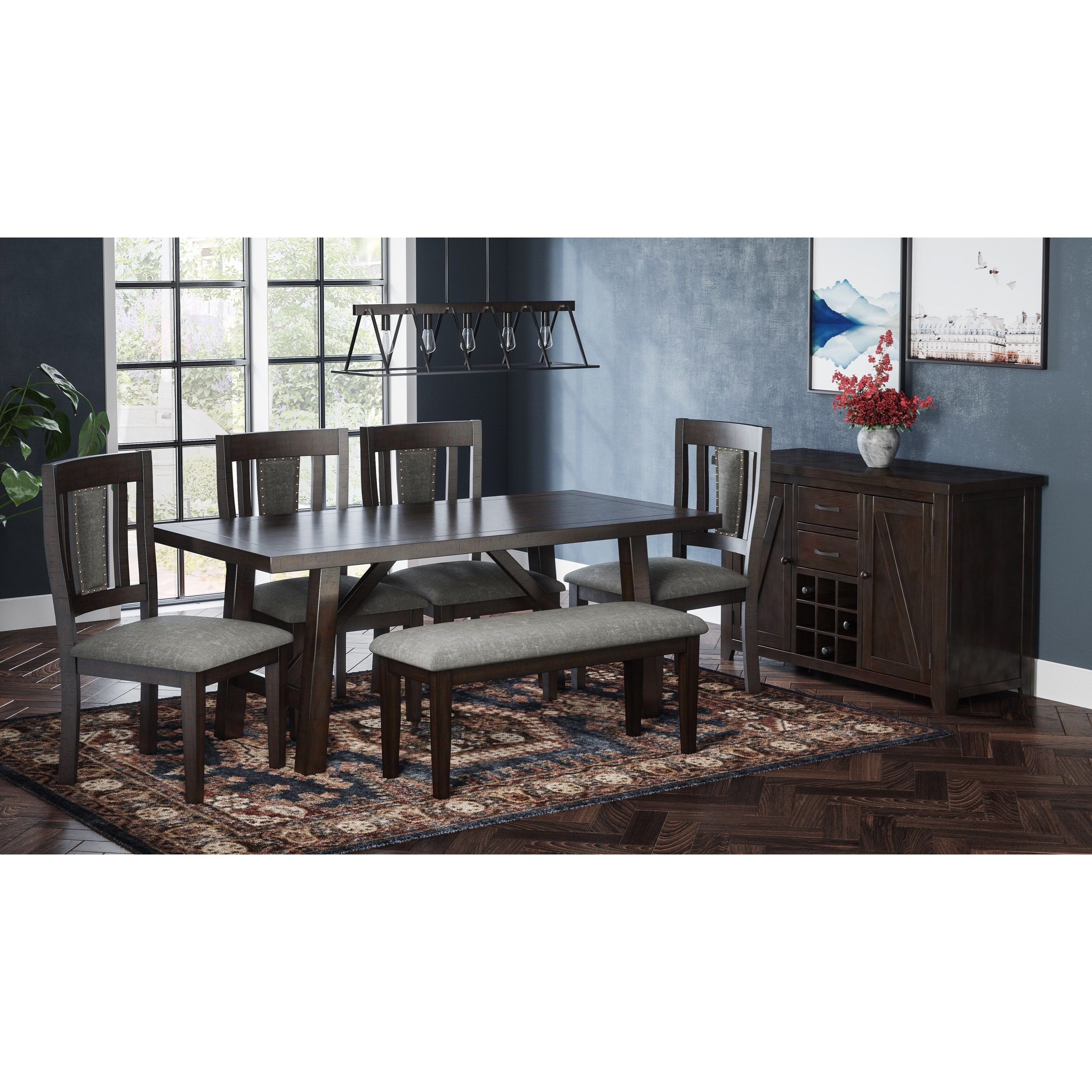 American Rustics Table and Chair Set by Jofran at Lapeer Furniture & Mattress Center