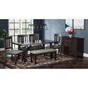 Jofran American Rustics Table and Chair Set - Item Number: 1838-72+405KDx4+42KD