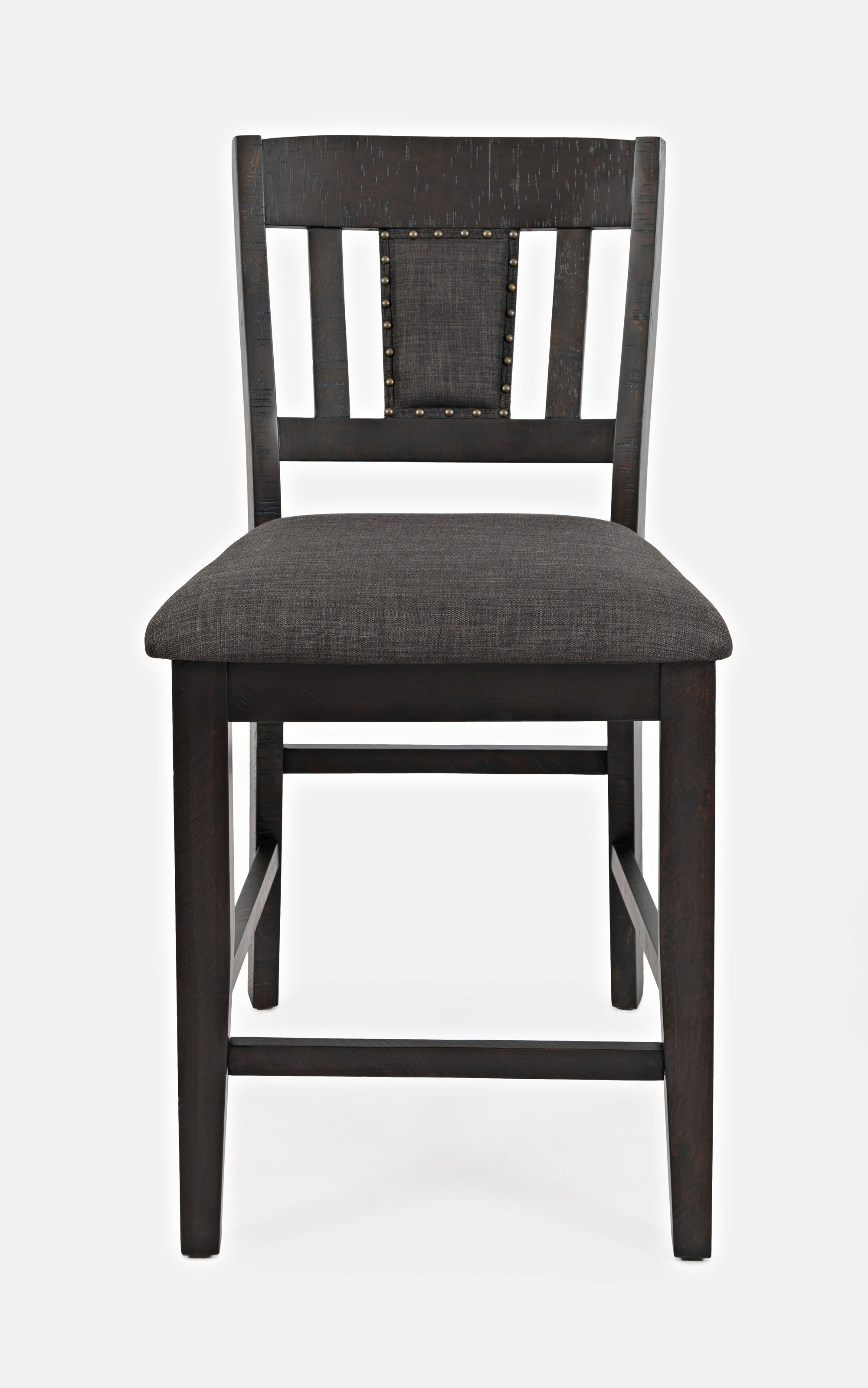 American Rustics Upholstered Slatback Stool by Jofran at H.L. Stephens