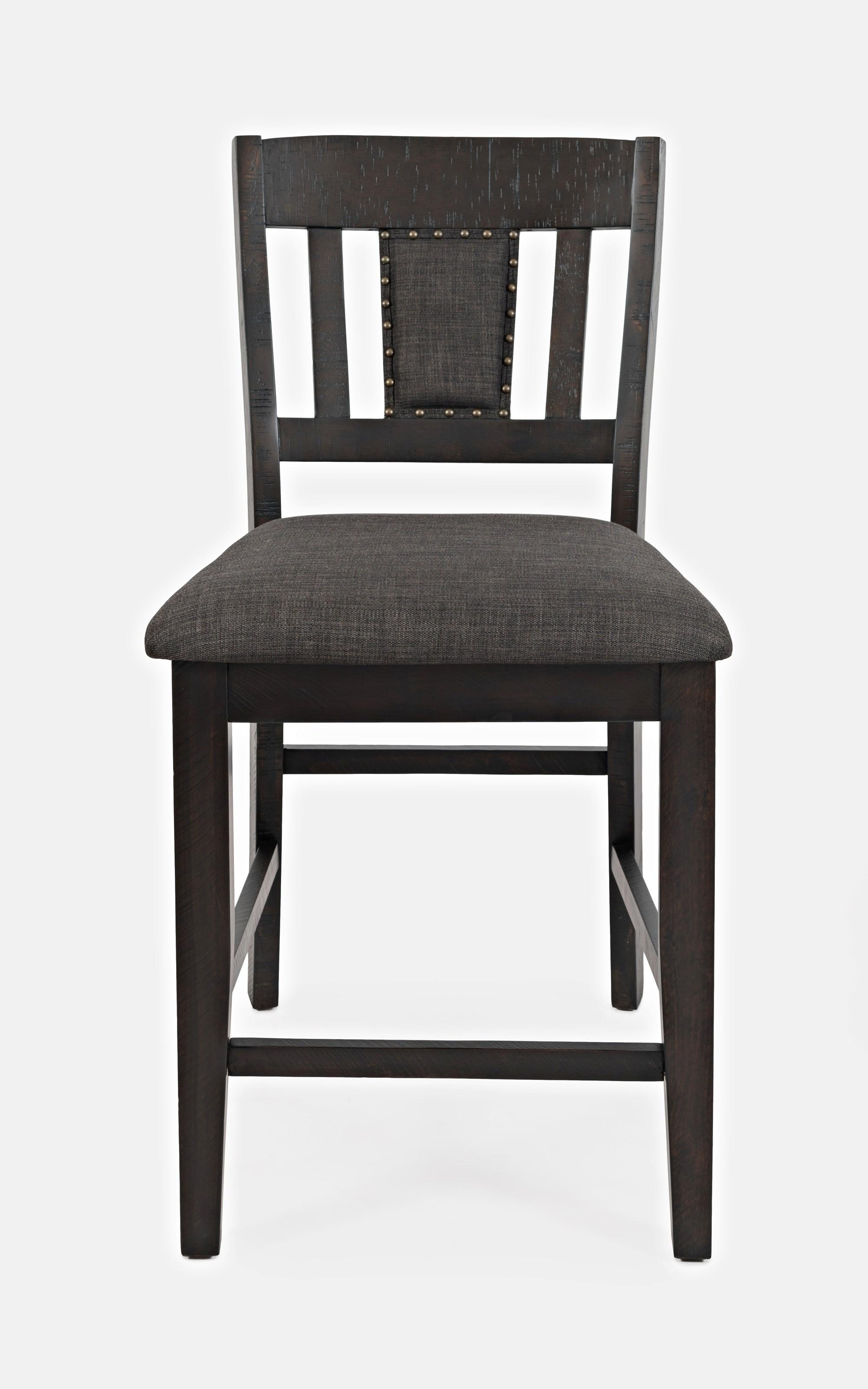 Upholstered Slatback Stool