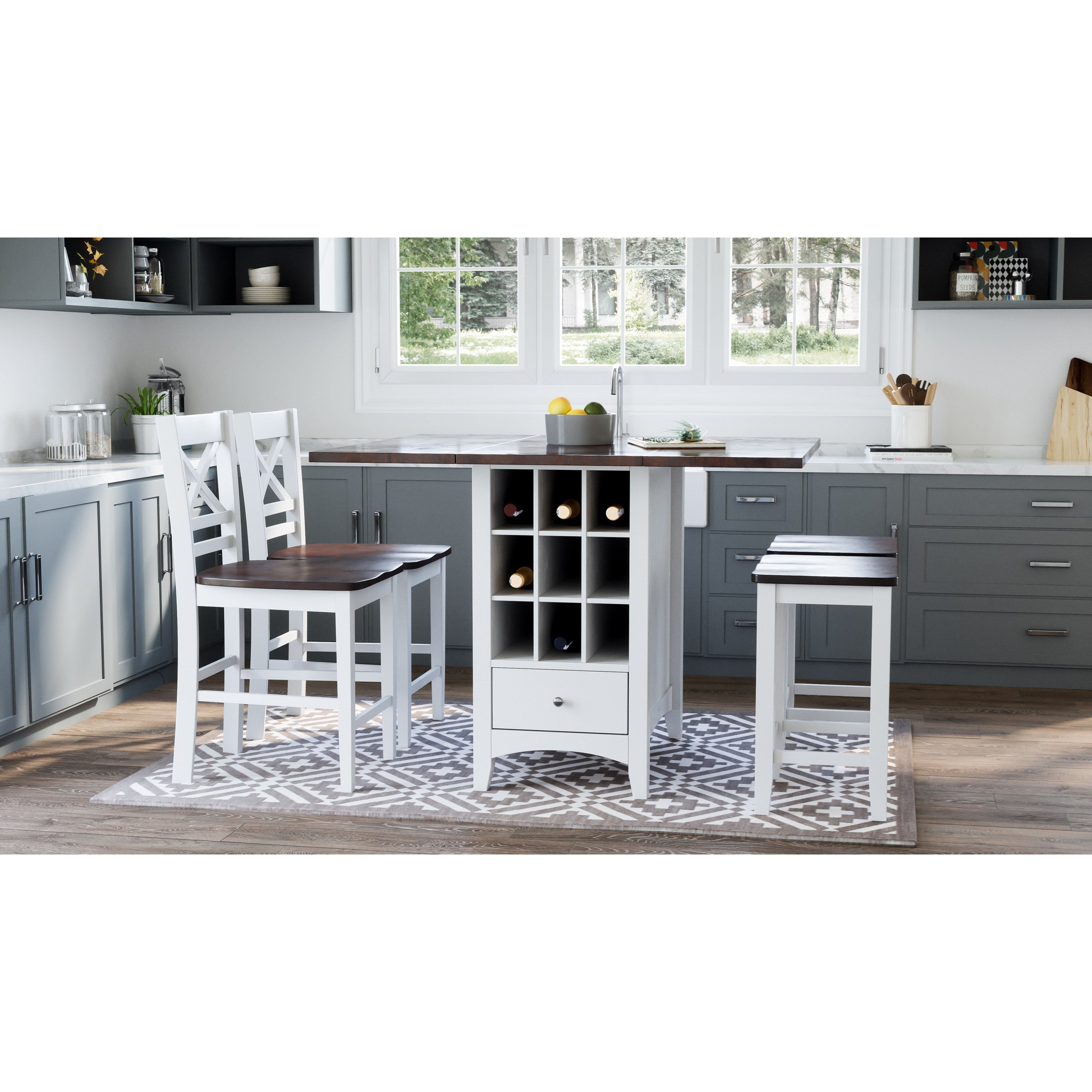 5-Piece Counter Height Table and Stool Set