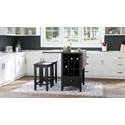 Jofran Asbury Park 3-Piece Counter Height Table and Stool Set - Item Number: 1846-48+2xBS175KD