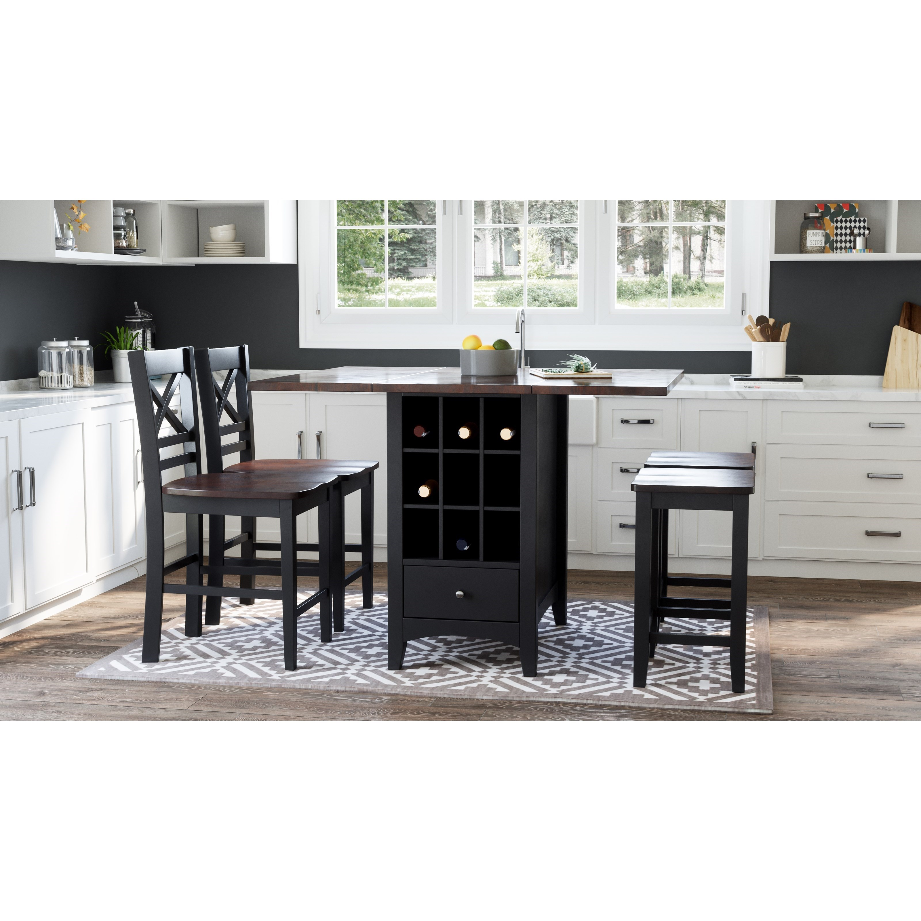 Asbury Park 5-Piece Counter Height Table and Stool Set by Jofran at Sparks HomeStore