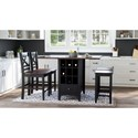 Jofran Asbury Park 5-Piece Counter Height Table and Stool Set - Item Number: 1846-48+2xBS395KD+2xBS175KD