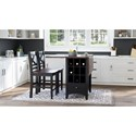Jofran Asbury Park 3-Piece Counter Height Table and Stool Set - Item Number: 1846-48+2xBS395KD