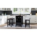 Jofran Asbury Park 5-Piece Counter Height Table and Stool Set - Item Number: 1846-48+4xBS175KD