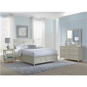 Jofran Emerson: Ivory 4PC Queen Storage Bedroom Set