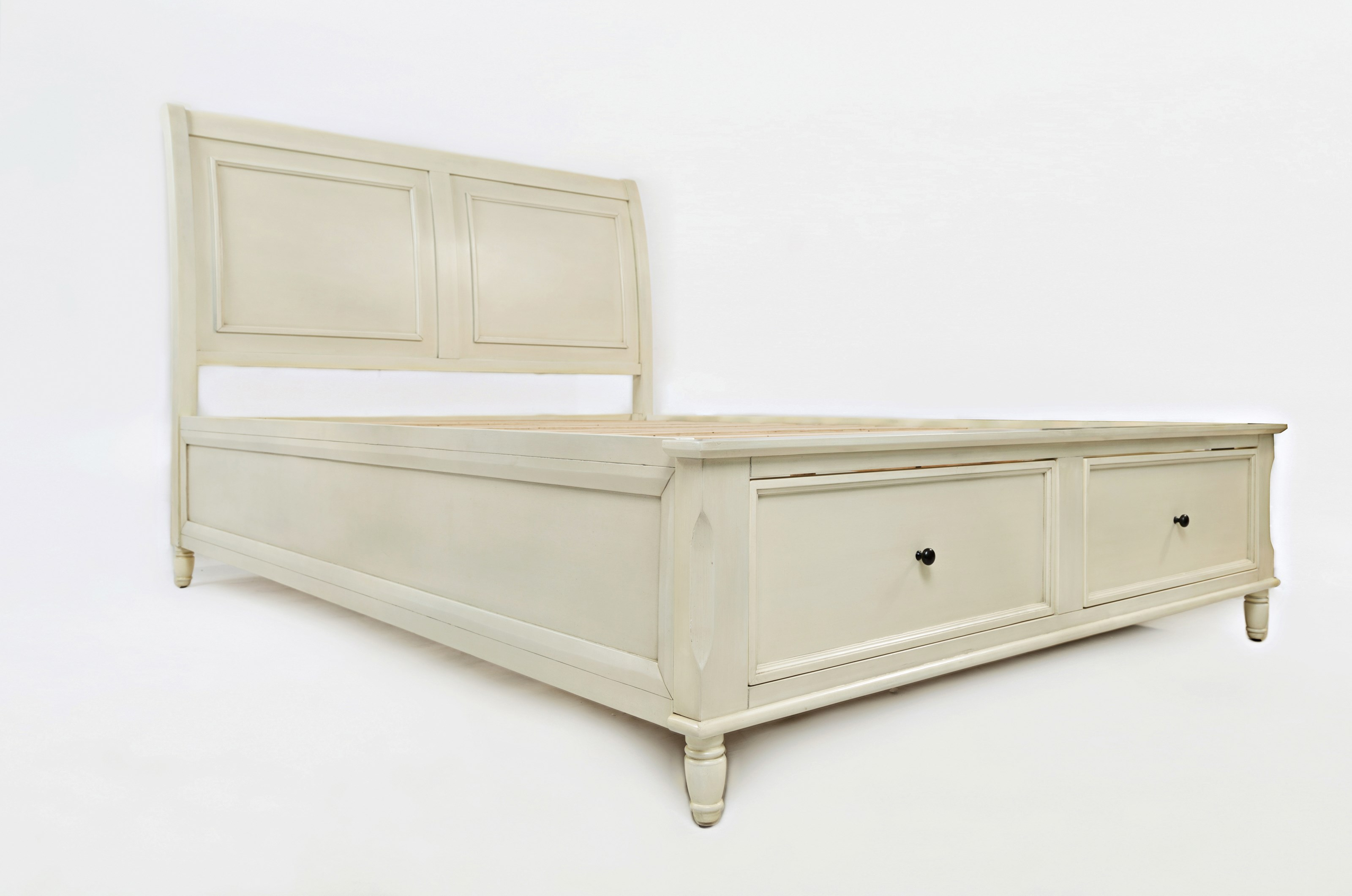 Jofran Emerson: Ivory Queen Storage Bed - Item Number: 1617-858687888KT