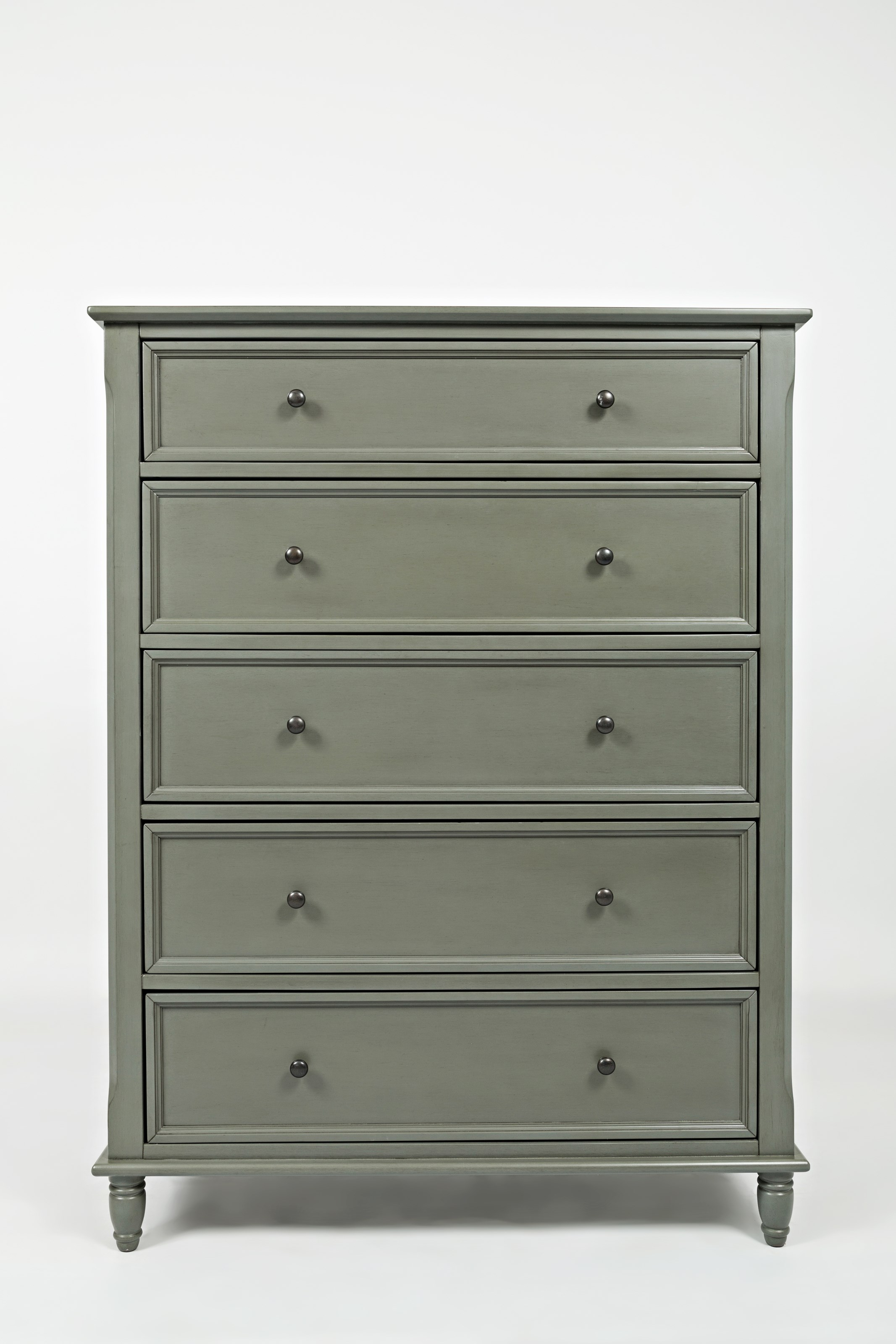 Jofran Oakley: Grey 5 Drawer Chest - Item Number: 1618-30