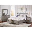 Jofran Oakley: Grey Queen Storage Bed