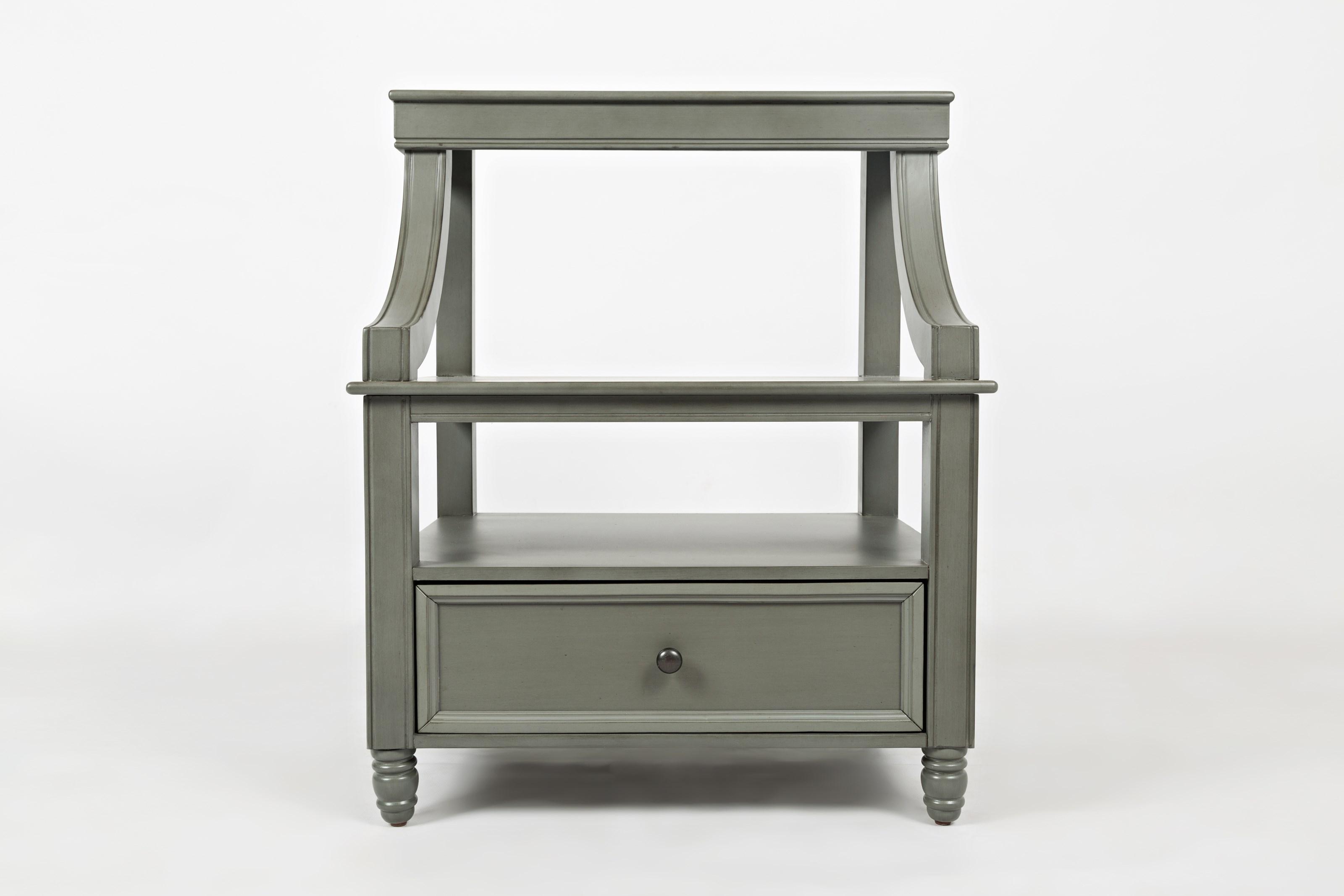 Jofran Oakley: Grey Step Up Nightstand - Item Number: 1618-90