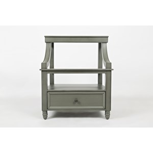 Jofran Oakley: Grey Step Up Nightstand