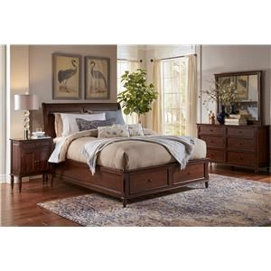 Jofran Boden: Cherry 4PC Queen Storage Bedroom Set
