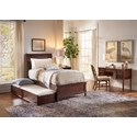 Jofran Boden: Cherry Twin Panel Bed with Trundle Bed