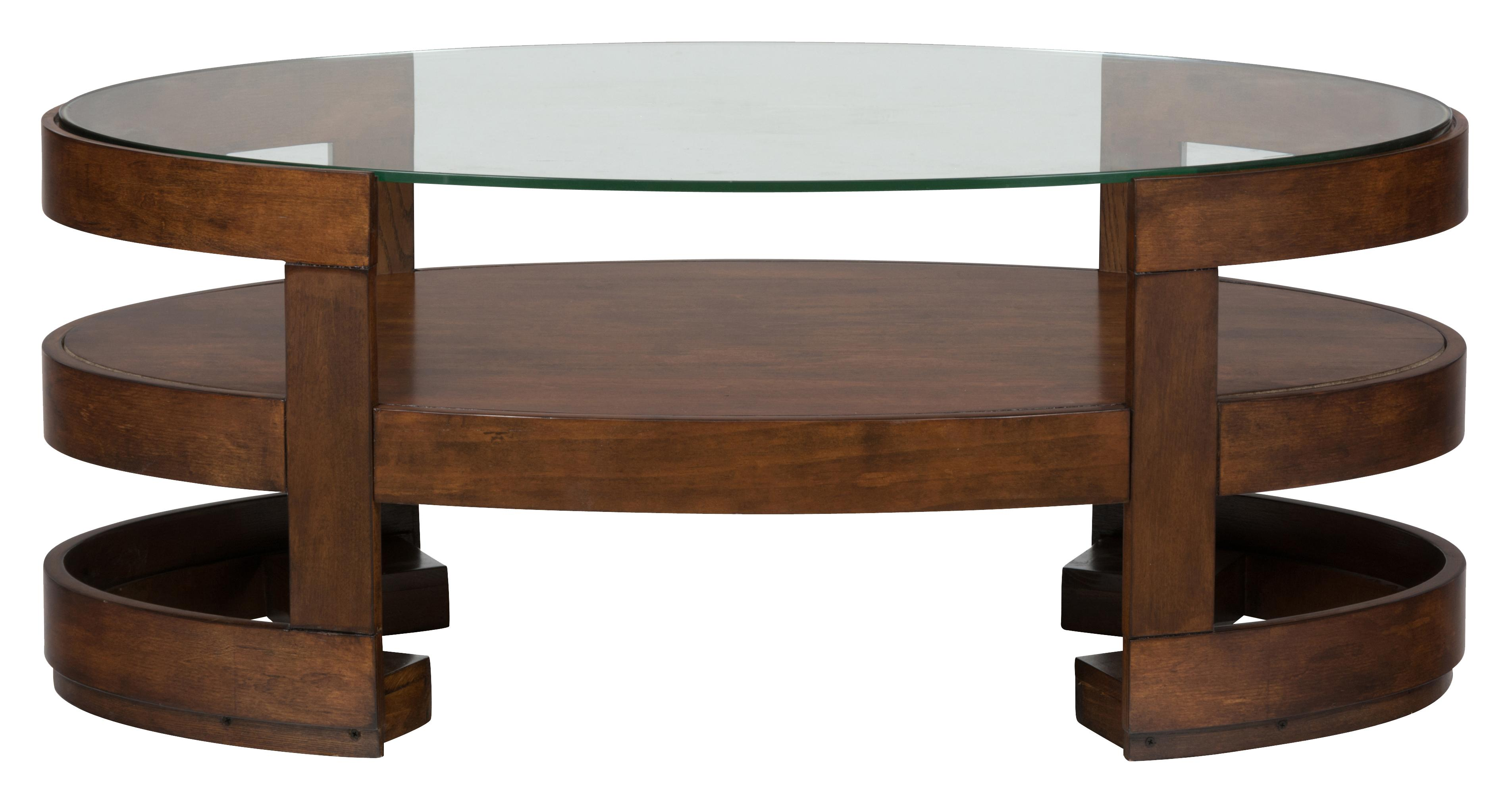Jofran Avon Birch Oval Cocktail Table with Glass Top - Item Number: 348-1