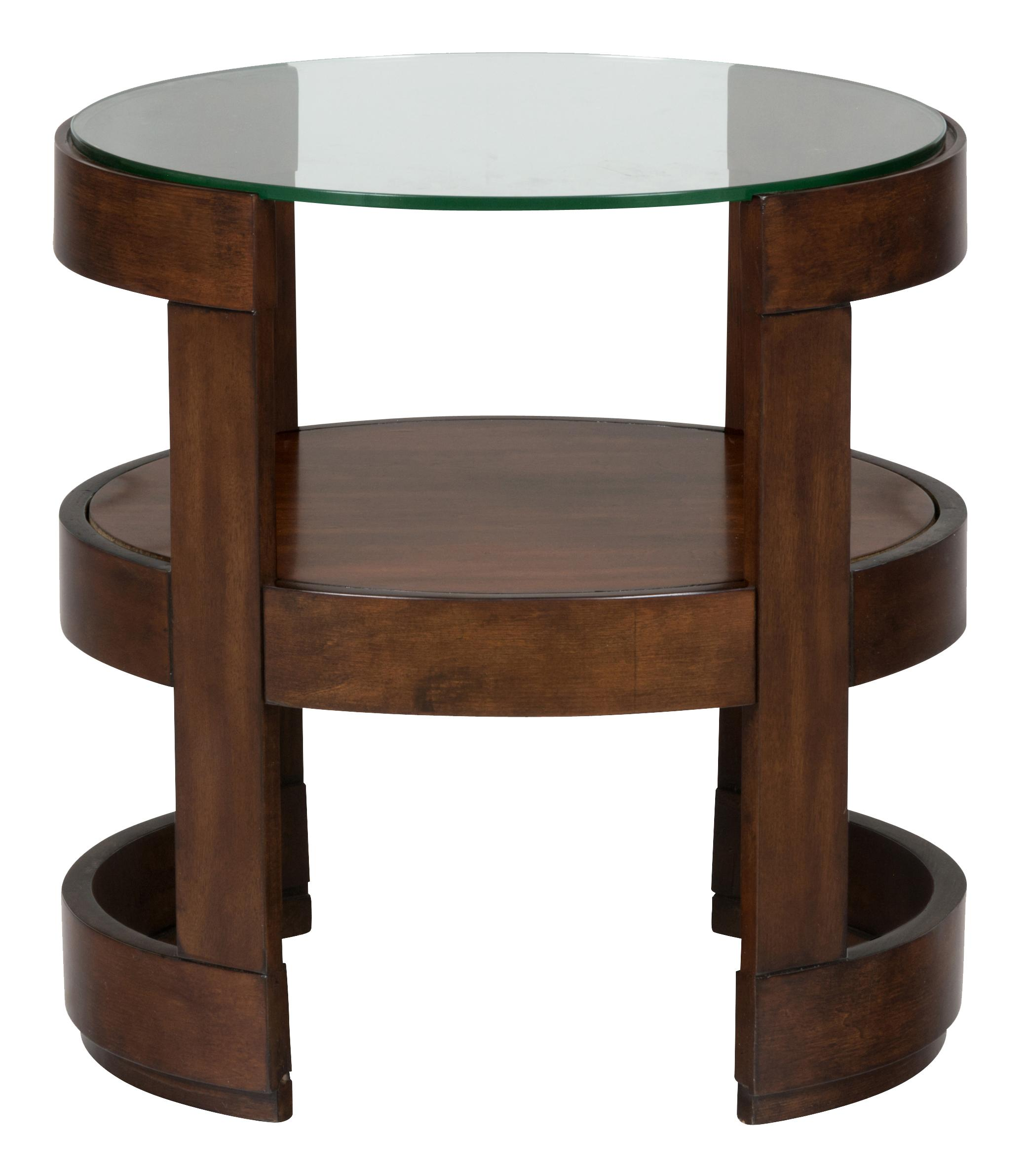 Jofran Avon Birch Round End Table with Glass Top - Item Number: 348-3