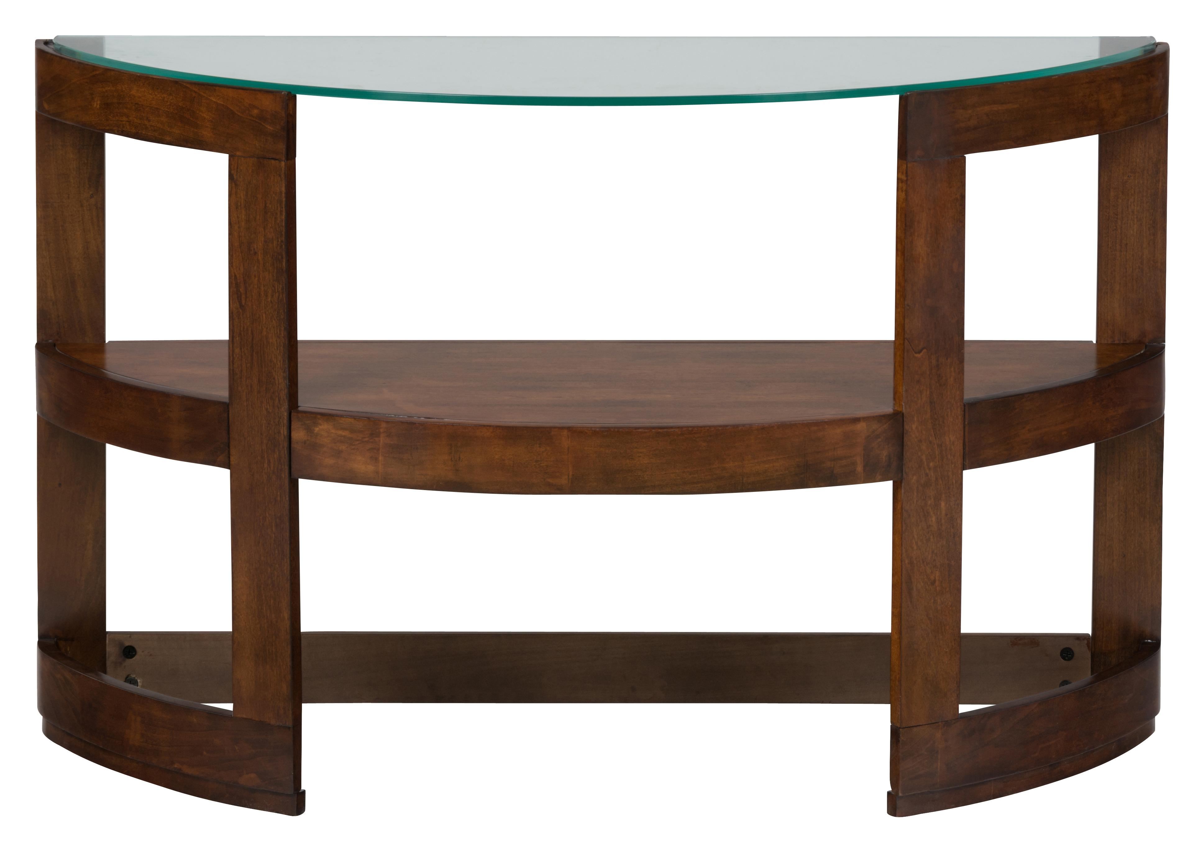 Jofran Avon Birch Demi-Lune Sofa Table with Glass Top - Item Number: 348-4