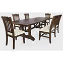 Jofran Bakersfield 6-Piece Dining Table and Chair Set - Item Number: 6PC 1901-110 Dining w- Bench