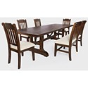 Jofran Bakersfield 6-Piece Dining Table and Chair Set - Item Number: 6PC 1901-110
