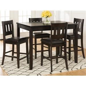 Morris Home Furnishings Berkely Berkeley 5-Piece Counter Height Dining Set