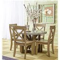 Jofran Boulder Ridge 5 Piece Dining Package - Item Number: 757-43T+B+4x757-611KD