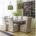 Jofran Boulder Ridge Rectangle Dining Table Set - Item Number: 757-78T+B+6x941-162KD