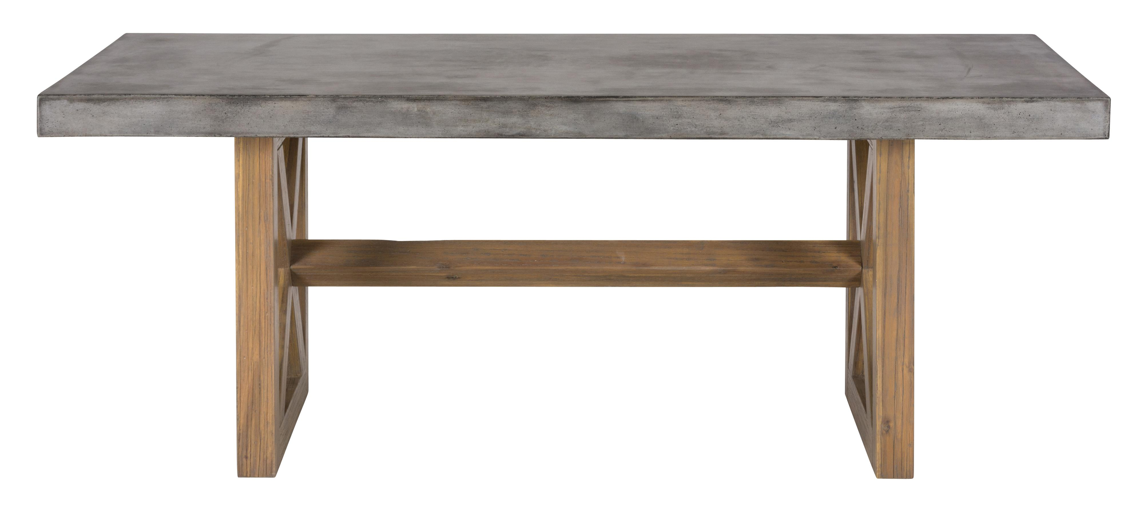 Belfort Essentials Boulder Ridge Concrete Dining Table- Rectangle - Item Number: 757-78T+B