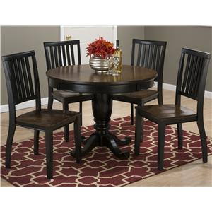 "Jofran Braden Birch 42"" Round Table and Chair Set"