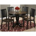 "Jofran Braden Birch 42"" Round Table and Chair Set - Item Number: 272-42B+42T+4x219KD"