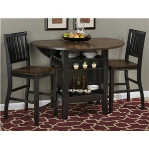 "Jofran Braden Birch 48"" Round Counter Height Table Set"