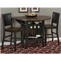 "Jofran Braden Birch 48"" Round Counter Height Table Set - Item Number: 272-48+BS219KD"