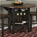 "Jofran Braden Birch 48"" Round Counter Height Table with Drop-Down Leaf"
