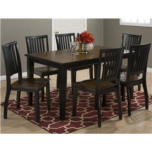 Jofran Braden Birch Rectangular Table and Chair Set