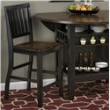 Jofran Braden Birch Counter Height Chair for Pub and Restaurant Styled Dining