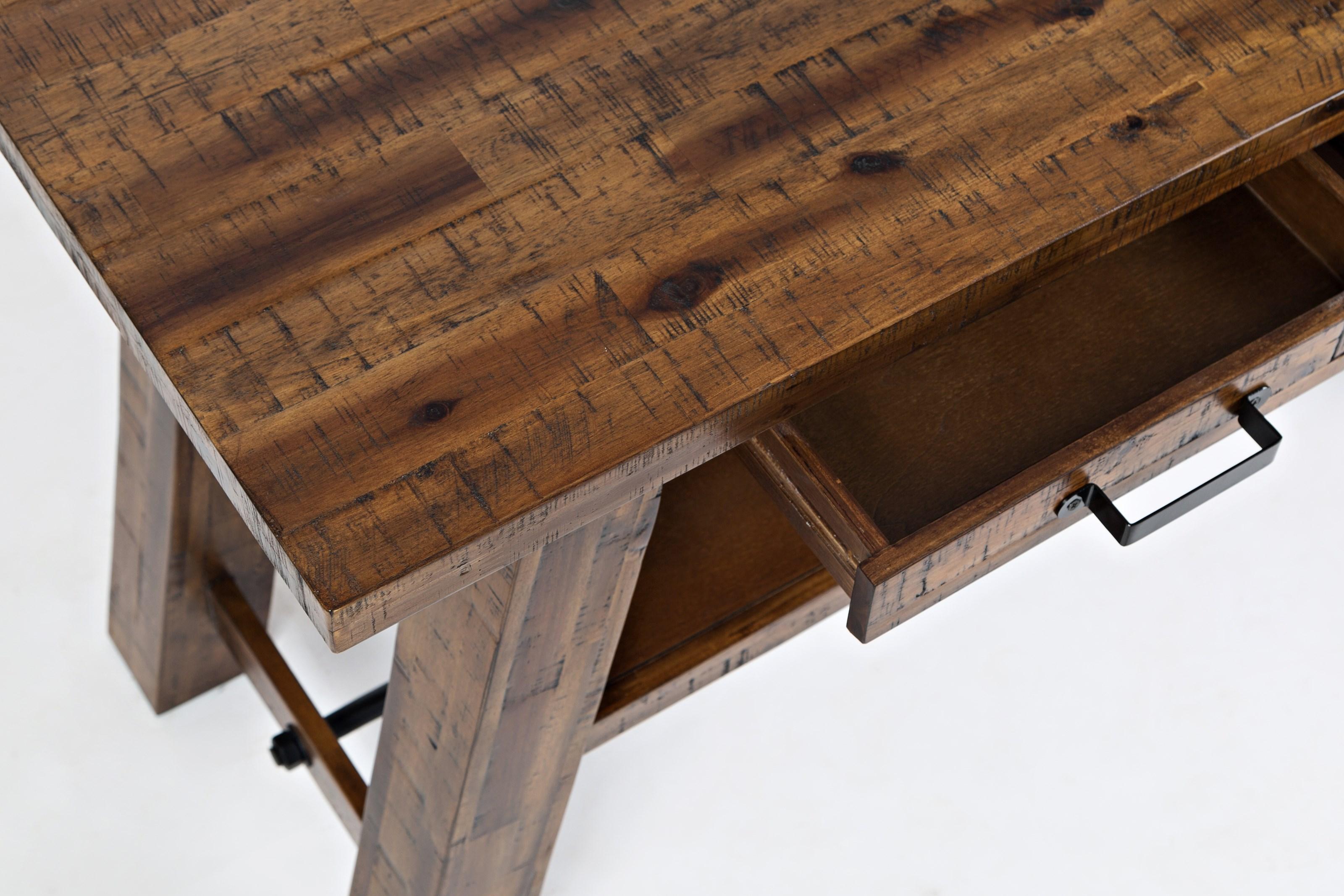 Jofran Cannon Valley 1510 14 Trestle Sofa Table Pilgrim