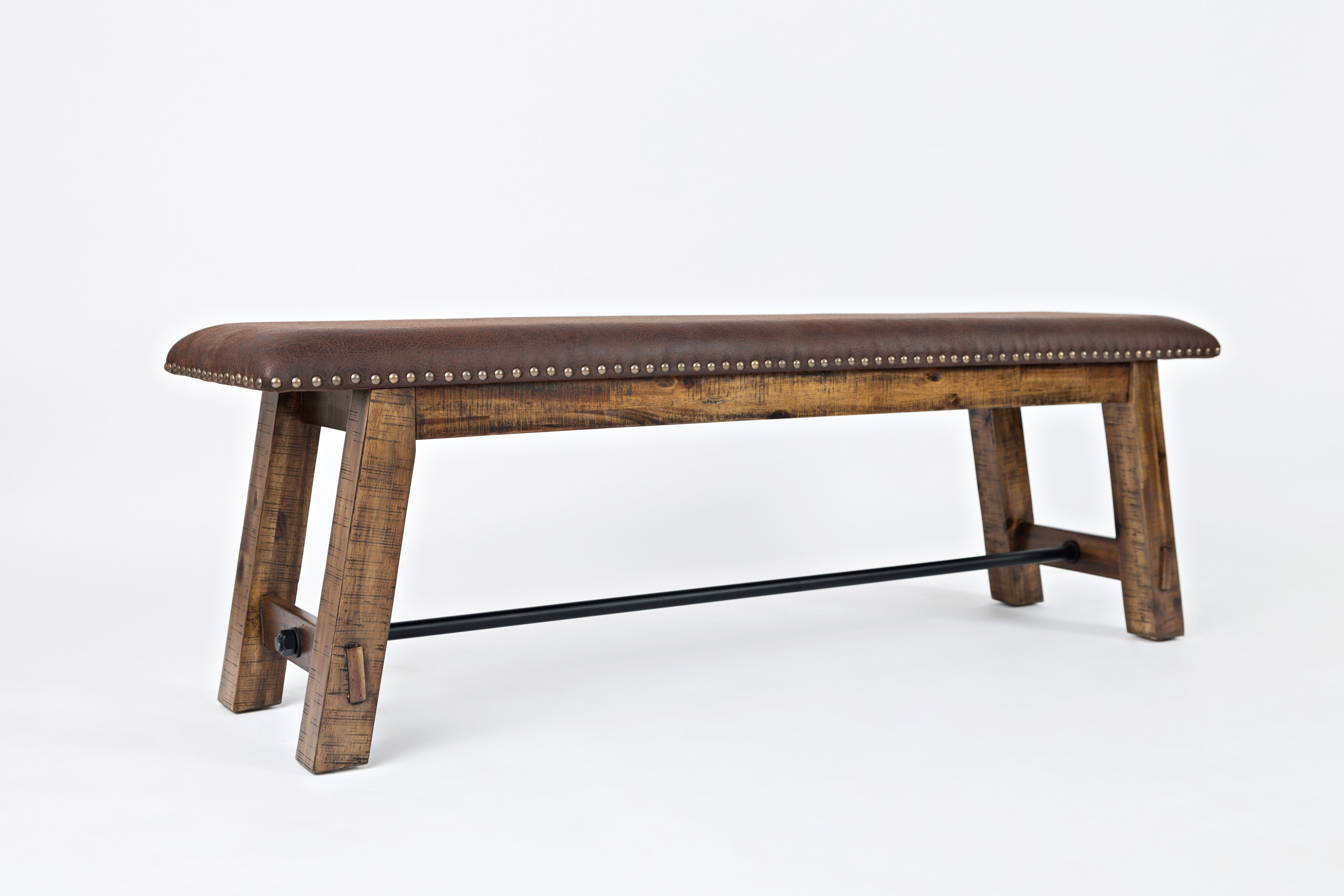 Jofran Cannon Valley Bench With Upholstered Seat