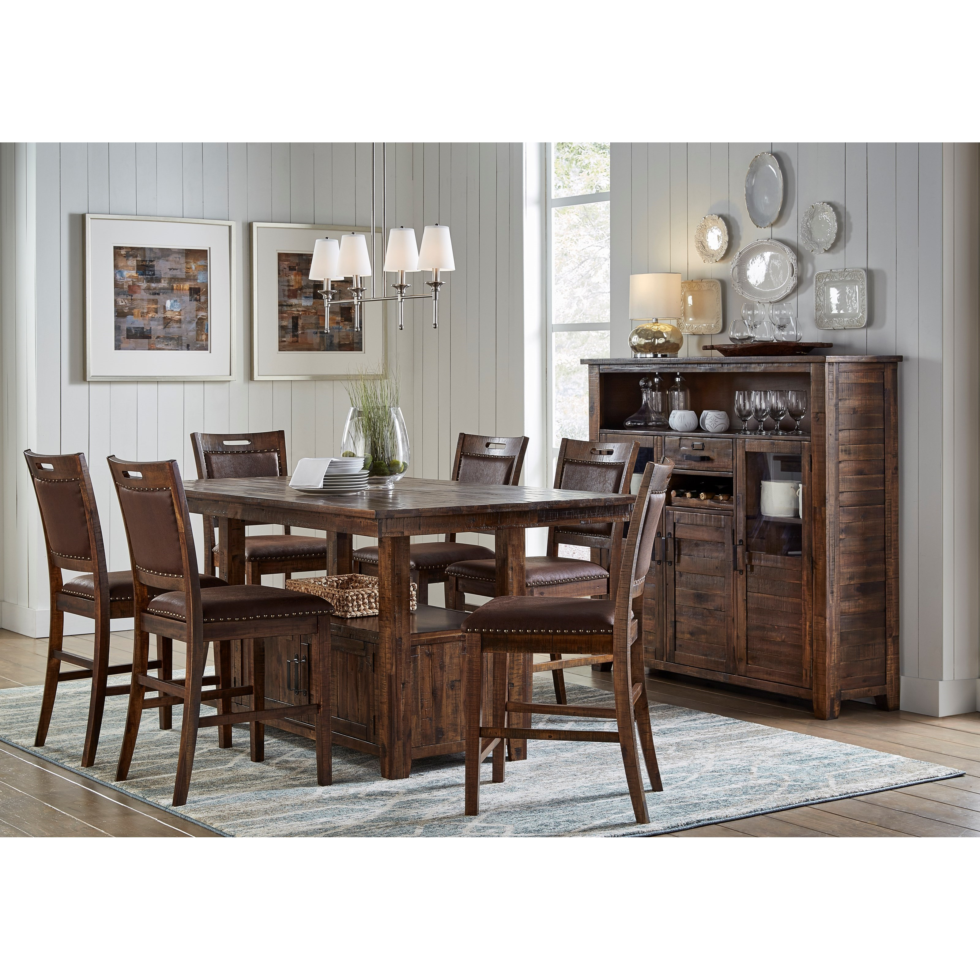 Jofran Cannon Valley High Low Table And Chair Set