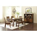 Jofran Cannon Valley Trestle Dining Table and Chair/Bench Set