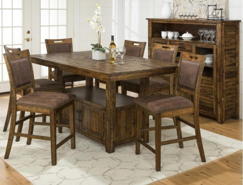 Cannon Valley Counter Height Table & 4 Stool