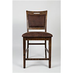 Upholstered Back Counter Stool