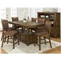 Jofran Cannon Valley Cannon Valley Counter Height Table & 4 Stool - Item Number: 1511