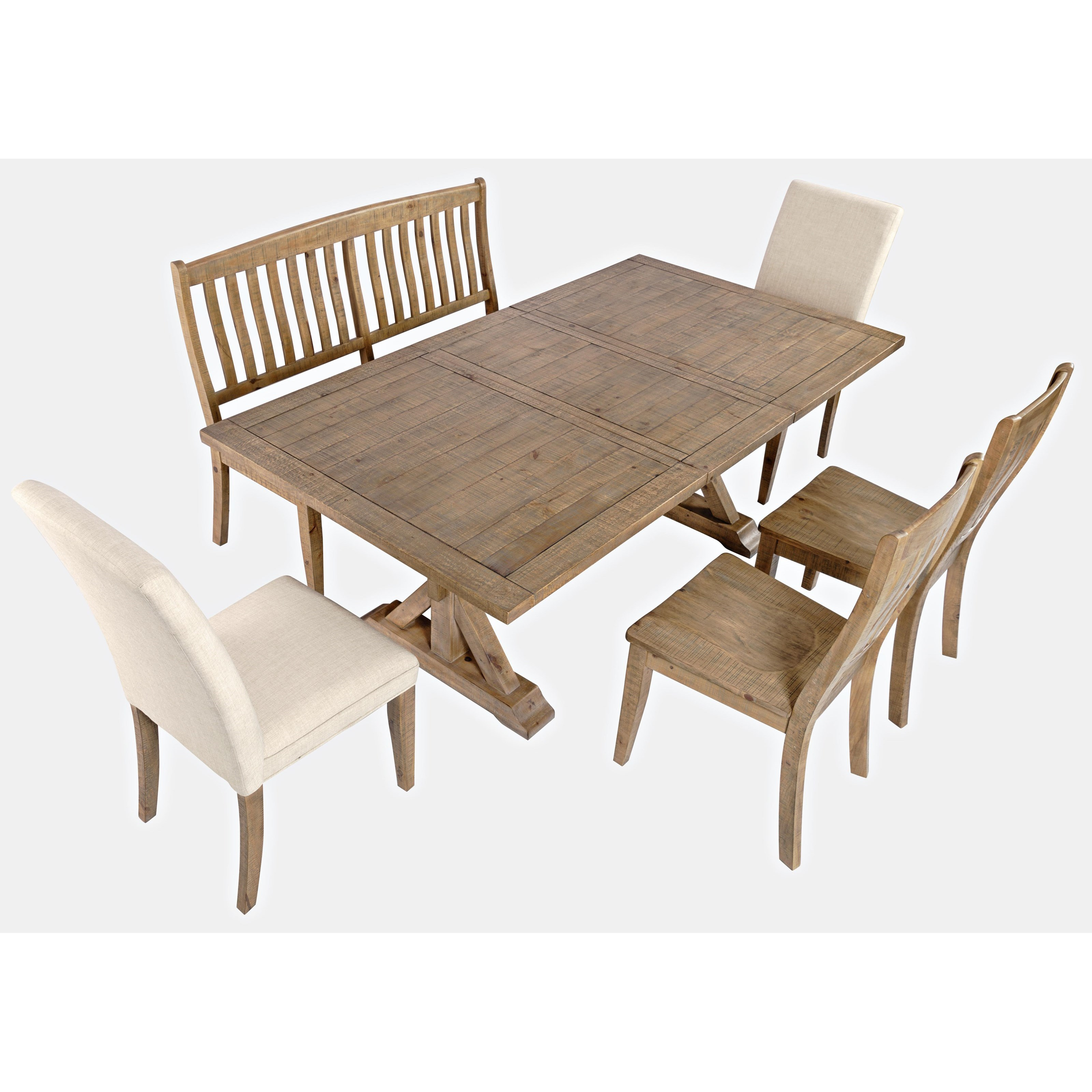 Jofran Carlyle Crossing 6-Piece Dining Table and Chair Set ...