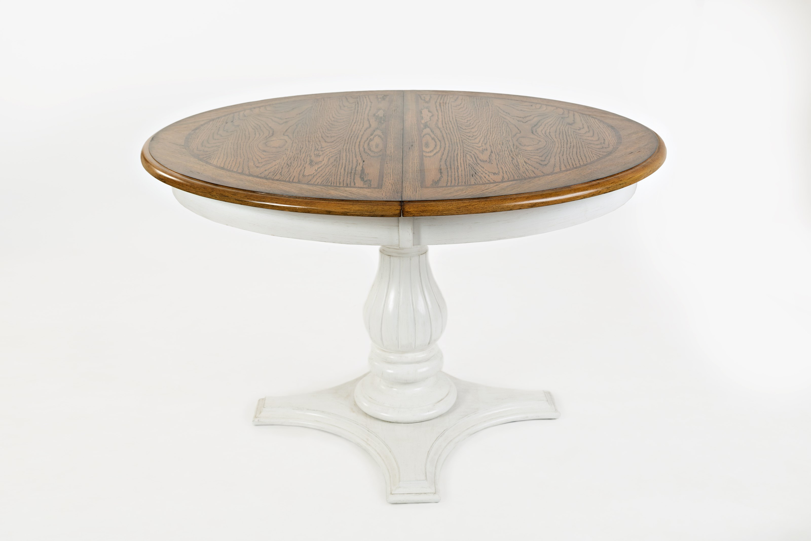 Round to Oval Pedestal Dining Table