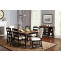 Jofran Castle Hill Rectangle Table and Chair Set - Item Number: 1786-84+2x240KD+4x140KD