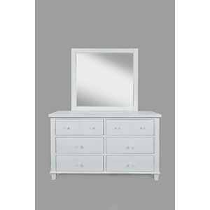 Jofran Chesapeake Dresser and Mirror