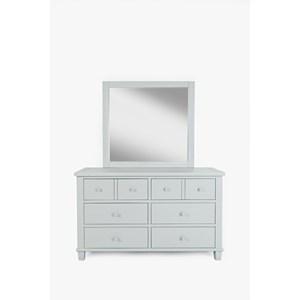 Jofran Chesapeake Dresser and Mirror